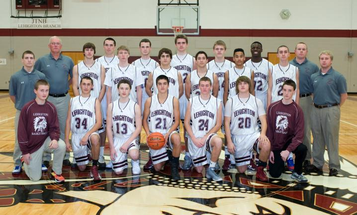 Bob Ford/TIMES NEWS Members of the Lehighton boys basketball team for the 2013-14 season include, front row from left, manager Jarred Rehrig, Jordan Knappenberger, Tanner Zwetolitz, Ben Cordova, Kris Knappenberger, Max McCandless, manager Tyler…