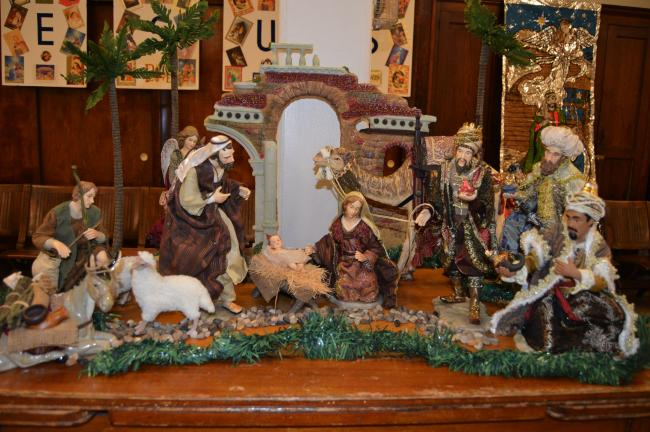 KAREN CIMMS/TIMES NEWS This nativity, owned by Mitzi McElhenney of Walnutport, is on display at the Lutheran Church of St. John in Jim Thorpe during the sixth annual