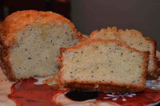 KAREN CIMMS/TIMES NEWS Poppy Seed Tea Bread has a nutty almond flavor and is topped with an orange sugar glaze.