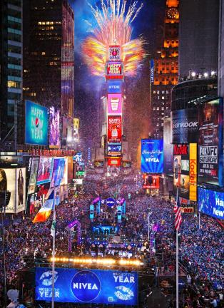 COUNTDOWN ENTERTAINMENT LLC Times Square in New York City will come alive tonight during the annual New Year's Evecelebrations. The history of New Year's can be traced back thousands of years and has become one of the largest party days of the year.