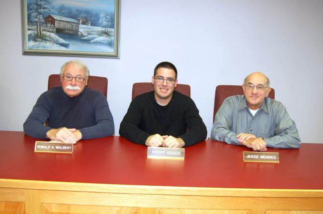 TERRY AHNER/TIMES NEWS Members who will compose the Lower Towamensing Township Board of Supervisors include (From left) Ron Walbert, vice chairman, Brent Green, chairman, and Jesse Mendez.
