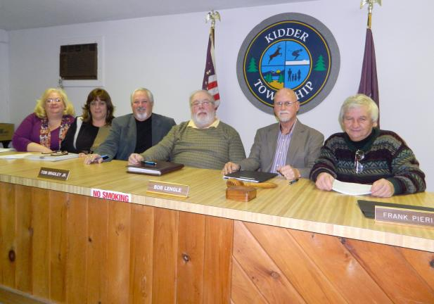 JUDY DOLGOS-KRAMER/SPECIAL TO THE TIMES NEWS Kidder Township Board of Supervisors and officials for 2014 are, from left, Suzanne Brooks, Lisa Kleim, Thomas La Fond, Tom Bradley Jr., Bob Lengle and Frank Pieri. Larry Polansky, who is recovering from…