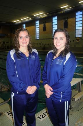 ron gower/times news Joann Butkus (left) and Miranda Amey have provided the Tamaqua swim team with a powerful 1-2 punch this season.
