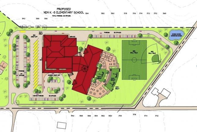 Plans for proposed elementary center from Lehighton School District Building Committee presentation.