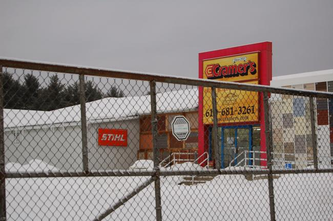 LINDA KOEHLER/TIMES NEWS Cramer's Home Center store in Kresgeville is closed as of last Friday.