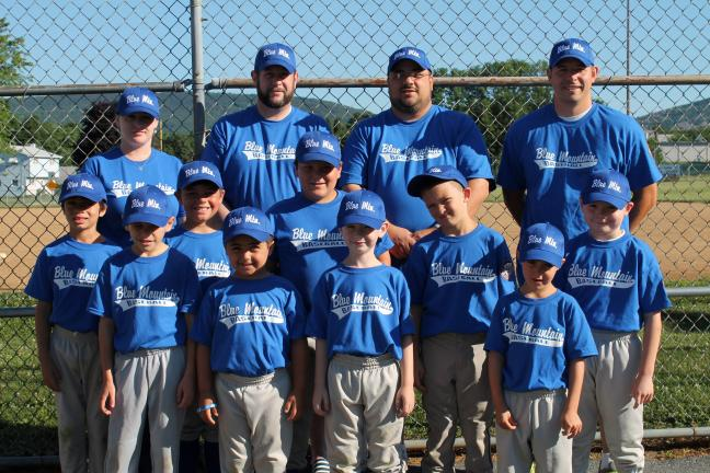 Blue Mountain 8U team in state tourney