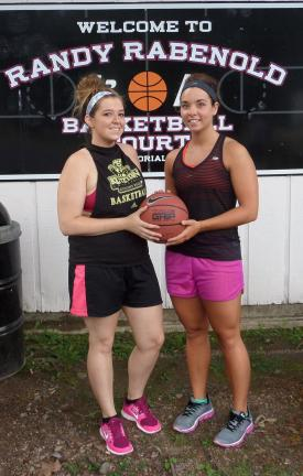BRAD HURLEY/TIMES NEWS Cassie Henry (left) and Chelsea Smelas (right) are two of the founding members of the Jim Thorpe Women's Summer Basketball League.