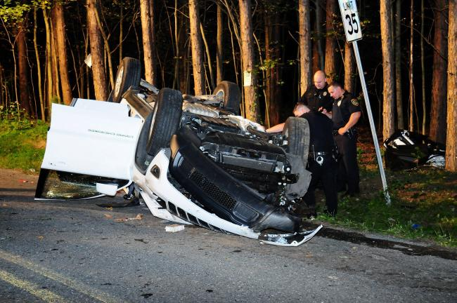 LARRY NEFF/SPECIAL TO THE TIMES NEWS Two people were killed in this crash early Sunday morning in Franklin Township.